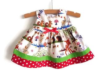 Baby dress - toddler dress - infant dress - girls dress - woodlands dress - baby party dress - first birthday dress - girls woodlands dress