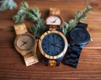 Wooden watch, Personalized watch, Mens watch, Cool watches, Wrist watch, Bamboo watch, 30th birthday for him, Groomsman watch, Wood watch