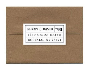 Personalized Address Stickers Art Deco Address Stickers Custom Address Label, Vintage Address Stickers, Return Address Label - Set of 18