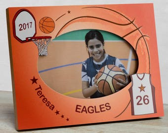 Basketball Picture Frame, Personalized Basketball Picture Frame, Kids Sports Picture Frame, Kids Basketball Frame, Sports Picture Frame