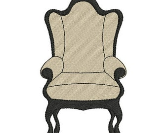 Embroidery design machine chair instant download
