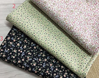 1 x coupon tissun 50x110cm patchwork flowers LIBERTY garment sewing