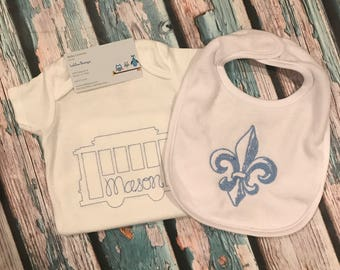 Baby boys New Orleans layette set