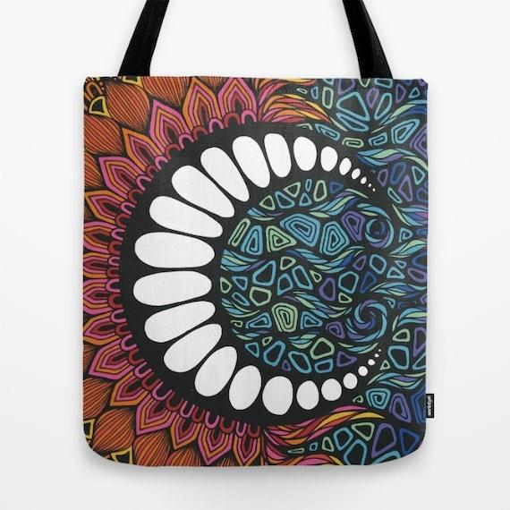 Zentangle - When the Sun meets the Moon Tote Bag