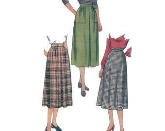 50s Skirt pattern Pleated Skirt pattern vintage 36-28-37 waist 28 straight skirt simplicity 2211