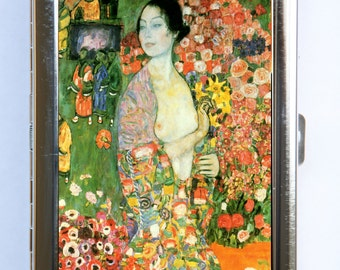 Klimt The Dancer Cigarette Case Wallet Business Card Holder Art Nouveau
