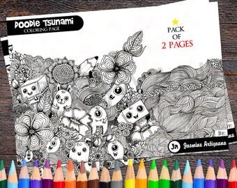 Doodle Tsunami coloring page