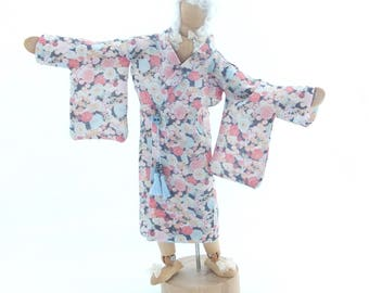 MINIATURE DOLLHOUSE 1/12 th Scale Ladies Hand Printed KIMONO