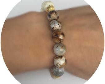 Beaded bracelet , beaded bracelet women, beaded stretch bracelet, everyday bracelet