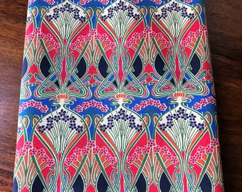 Handmade Scarf in *New* Liberty of London Tana Lawn Ianthe Fabric in Red Fully Lined