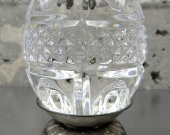 Waterford Crystal Annual Egg (1998) w/ Original Silver Stand No Box