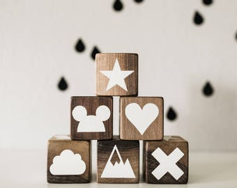 Wooden Block with Custom Graphics