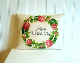 Happy Mothers day pillow | Mothers gift | Farmhouse Decor | I love you mom | Rustic | Mom | Spring Pillow