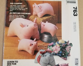 Mccall's Crafts 763 Pig Doll Package