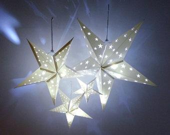 new paper star lantern w flourishes svg cutting file pdf