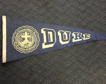 Vintage Duke University Pennant