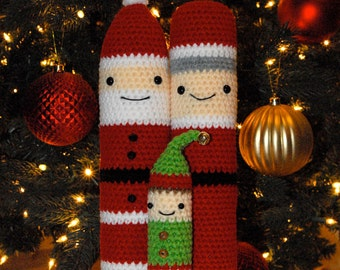 Crochet Patterns: Amigurumi Christmas - Santa, Mrs Claus, and Elf
