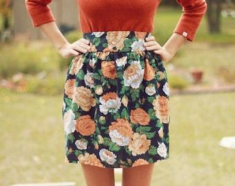Harvest Floral Skirt // size medium