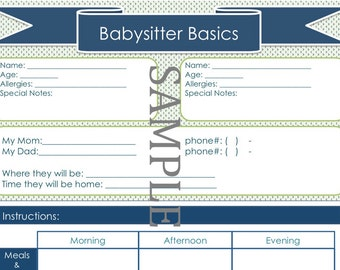 babysitter instructions elita aisushi co