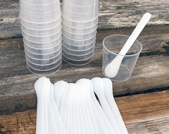 Ice Resin Cups and Stir Sticks - Pkg of 20 each  (CE721)
