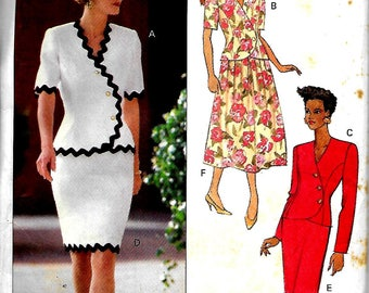 Butterick 6142     Misses Top, and Skirt    Size  6,8,10 and  Size 12,14,16      Uncut