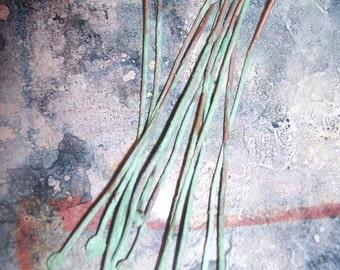 UR 20 gauge Hammered Patinaed Headpins