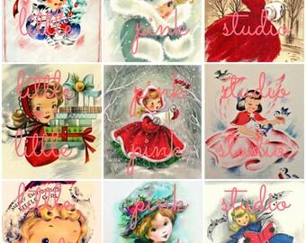 Christmas Cuties collage sheet 02 (printable, digital download)