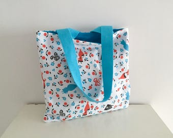 Bag, mini tote bag for kids pattern little Red Riding Hood, Little Red Riding Hood, gift idea