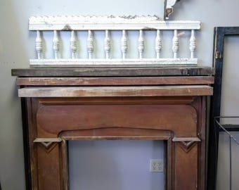 Salvaged Mantle; Fireplace Surround; Architectural Salvage Mantel; Primitive Mantle; Joanna Gaines; Farmhouse Style; The Corbel House