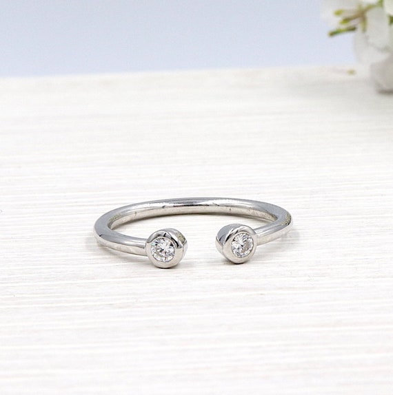 ring Silver 925 and zircon