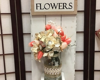 Fresh Flower Wall Decor