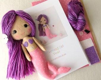 Pearl - Mermaid Girl Pattern Kit