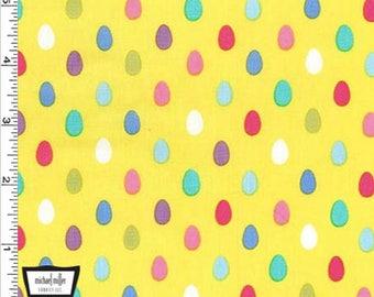 Easter Egg fabric - Egg Dot - Easter Bunny - Eggs - Easter Gnomes - by Michael Miller