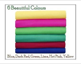 FELT Fabric Chemical Free Squares Winter Shades 12 squares - 12 x 10