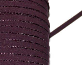 Ribbon elastic Eggplant / Burgundy