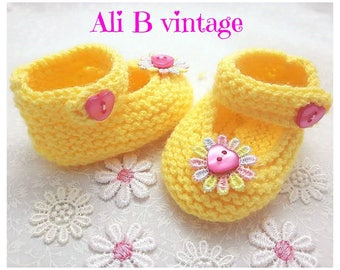 baby shoes girls shoes baby girls shoes pram shoes knitted Baby shoes baby booties lemon shoes baby shower christening gift baby girl