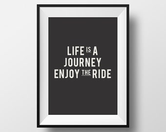 Wall decor, Home decor, Life is a journey,instant art, life, journey, quotes, inspirational quote, typography quote, motivate, instant