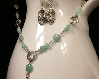 Early Spring Beaded Chain and Earrings