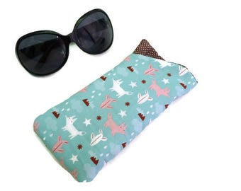 Sunglasses Case fox, Eyeglass Case, Glasses Case, Soft glasses case Fox
