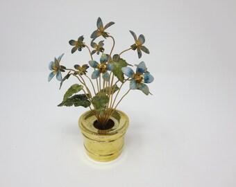 Gorham Sterling Silver Jane Hutcheson Enamel Flower Arrangement Fleurs des Siecle