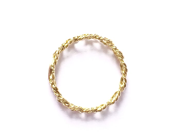 18ct gold ring Olympe - wire band - 18 ct gold - thin gold ring - women ring - women's gift