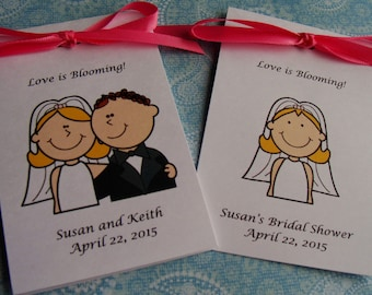 Bride and Groom Wedding Flower Seeds Party Favors SALE CIJ Christmas in July