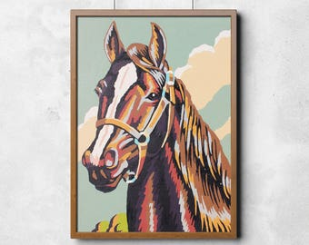 Paint by Number Poster: Multicolor Horse