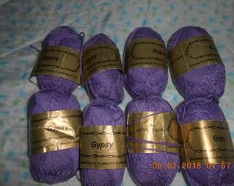 8 new GYPSY 100 percent cotton 115 yds each. beautiful purple
