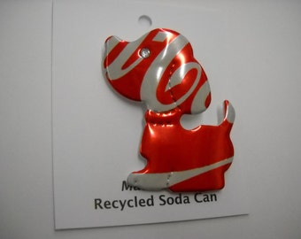 Magnetic Coke Dog Recycled Can