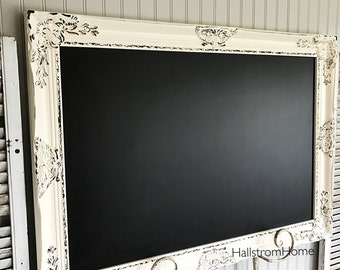 Wedding Chalk Board, Large Distressed Memo Board, Farmhouse Kitchen Chalk Board