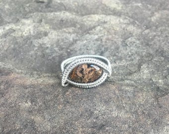 Bronzonite Wire Wrapped Ring