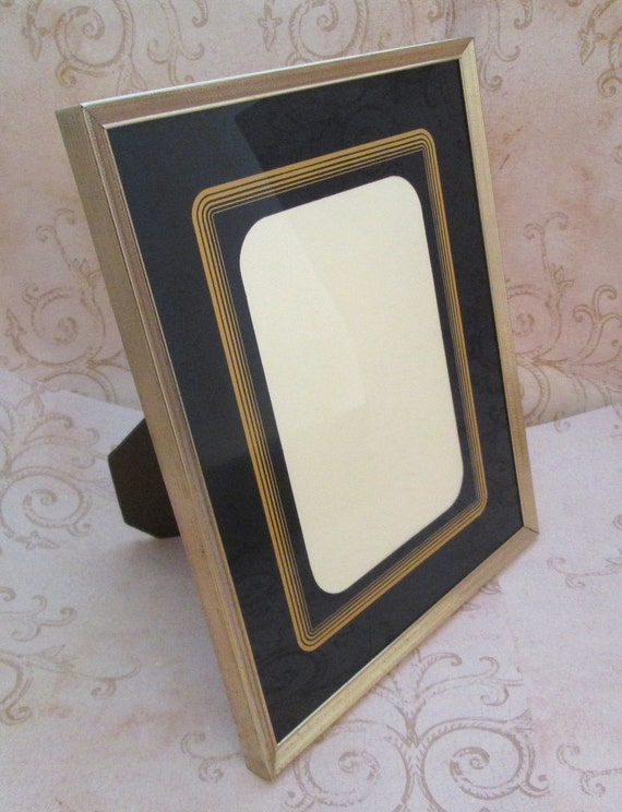 8x10 picture frame, Vintage Metal Photo Frame, Art Deco Style, Gold ...