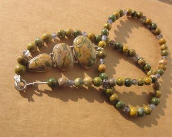 Ocean Jasper Iolite Necklace