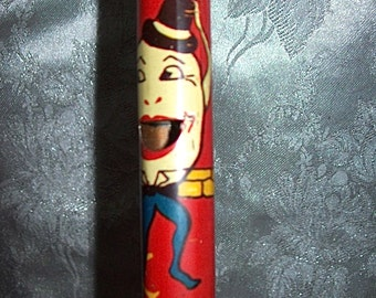 Circa 1930's  Made in U.S.A. Kirchhof HUMPTY DUMPTY Tin Litho Colorful Slide WHISTLE